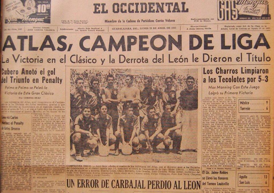 Resultado de imagen para campeonato atlas 1951